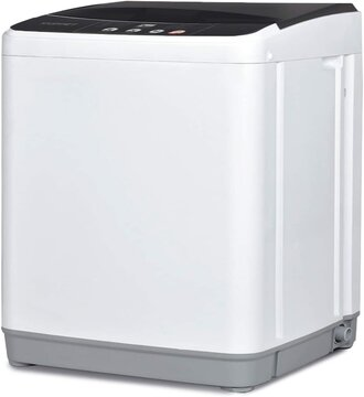 KUPPET Full-Automatic Washing Machine 10lbs Portable Compact 2 in 1 Laundry Washer
